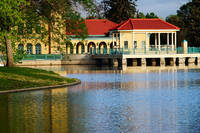 City Park bandstand and boathouse