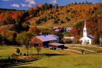 Vermont, steepled church