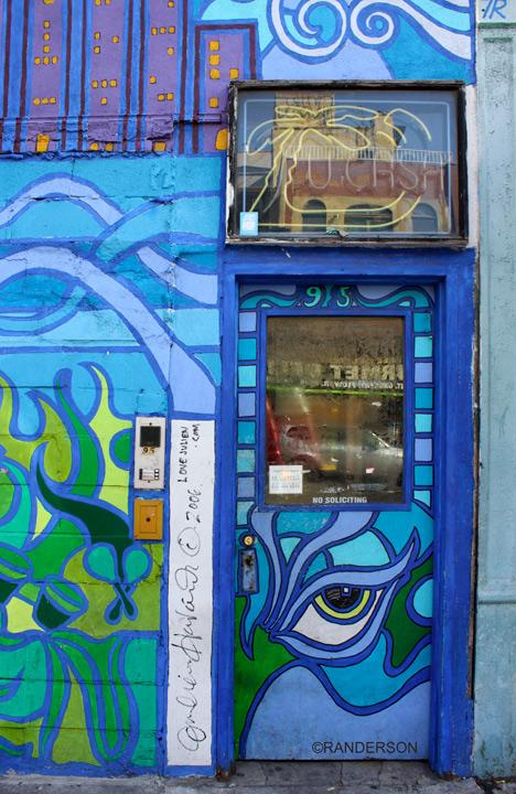 blue door, photo