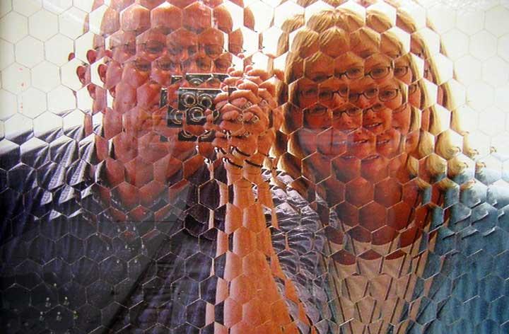 mosaic portrait, photo