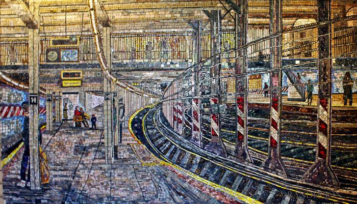 Subway mosaic, photo