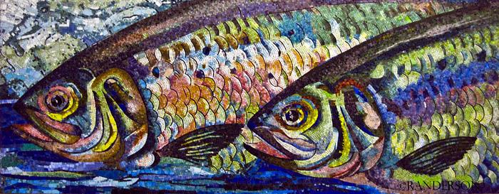 Subway station mosaic, photo