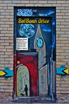 Bail bonds door