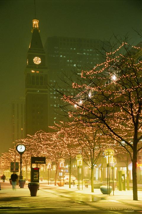 16th Street Mall during snowfall