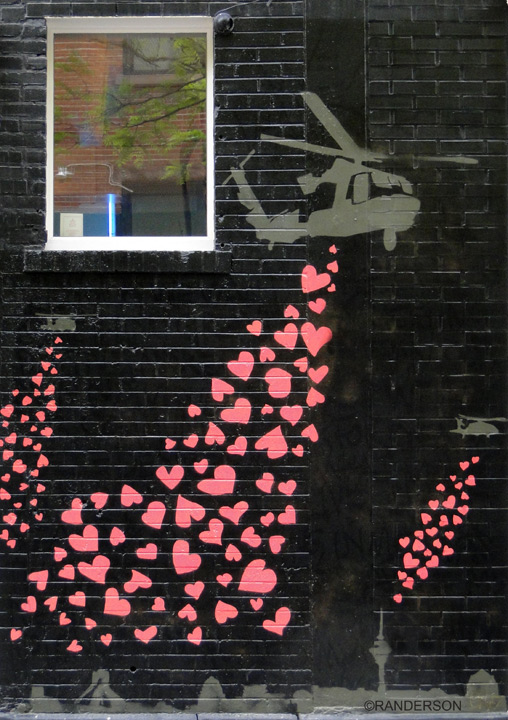 Dropping hearts