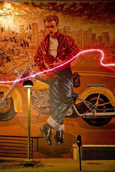 James Dean at midnight