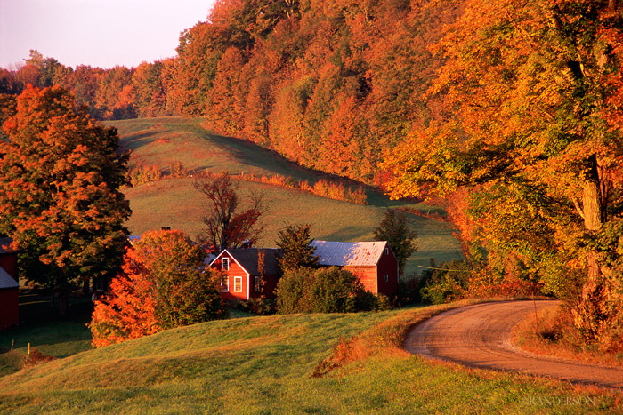 Rural Vermont in the fall