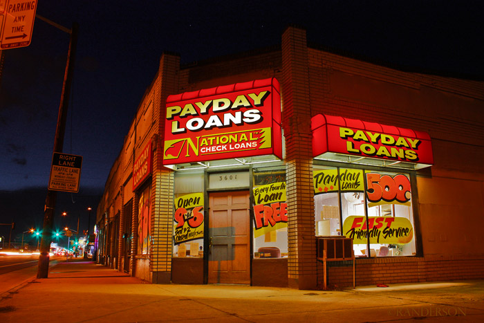 Payday loans, photo