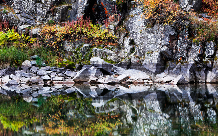Reflection in the Maroon Bells Wilderness