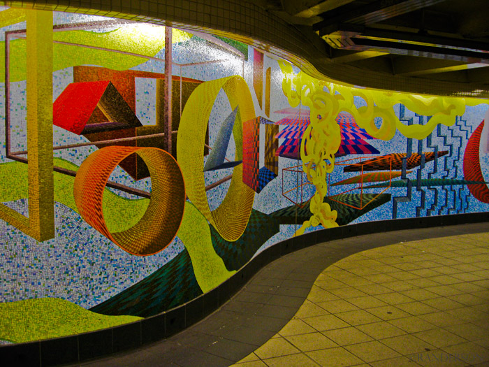 Subway mosaic, photo