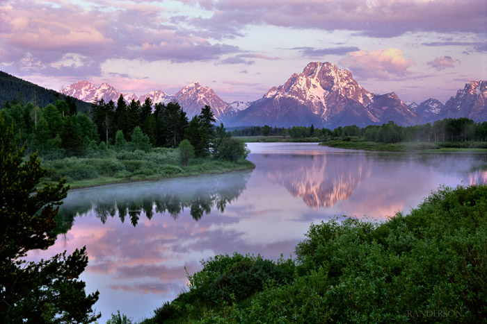Mountains, Tetons, Oxbow Bend, National Parks, Reflections, photo