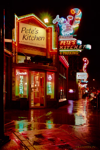 Pete's Kitchen-the first neon sign in Denver