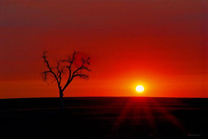 Early Fall sunrise on the Colorado eastern plain
